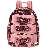 Meliya Women Fashion Sequin Backpack Glitter Casual Shoulder Bag Bow-tie Decoration Daypack Travel School Bag Handbag for Girls (Pink)