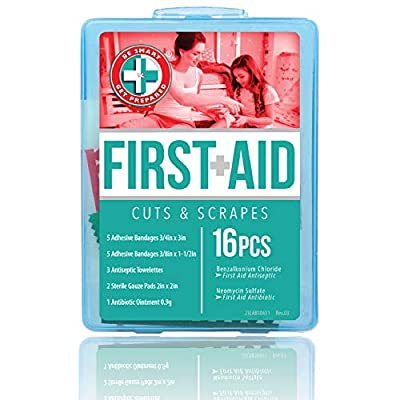 "Be Smart Get Prepared Total Resources International ""Let's Go Cuts & Scrapes"" Compact First Aid Kit"