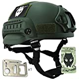 ATAIRSOFT PJ Type Tactical Airsoft Paintball MICH 2002 Helmet With Side Rail & NVG Mount OD
