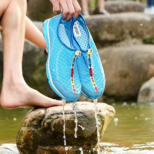 Beach Wetsuit Trainers For Sandals Aqua Lightweight Water Surf Men Blue DoGeek Shoes Breathable Women Mesh Zq0UzO8x