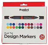 Premiere Dual Tip Design Markers, Alcohol Based, 24 Color Set