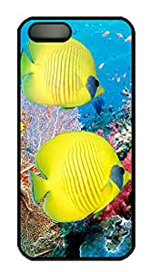 iPhone 5s Cases & Covers - Yellow Submarine Fish Custom PC Soft Case Cover Protector for iPhone 5s - Black