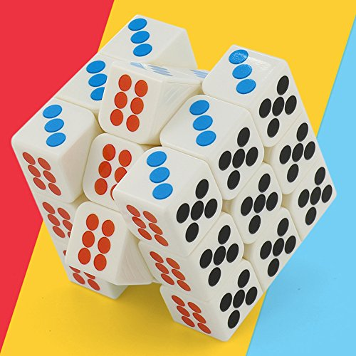 Qiyun 3x3 Creative Magic Dice Cube Brain Teaser Puzzle Speed Cube for Magic Cuber Players, - Dice Brain Teaser