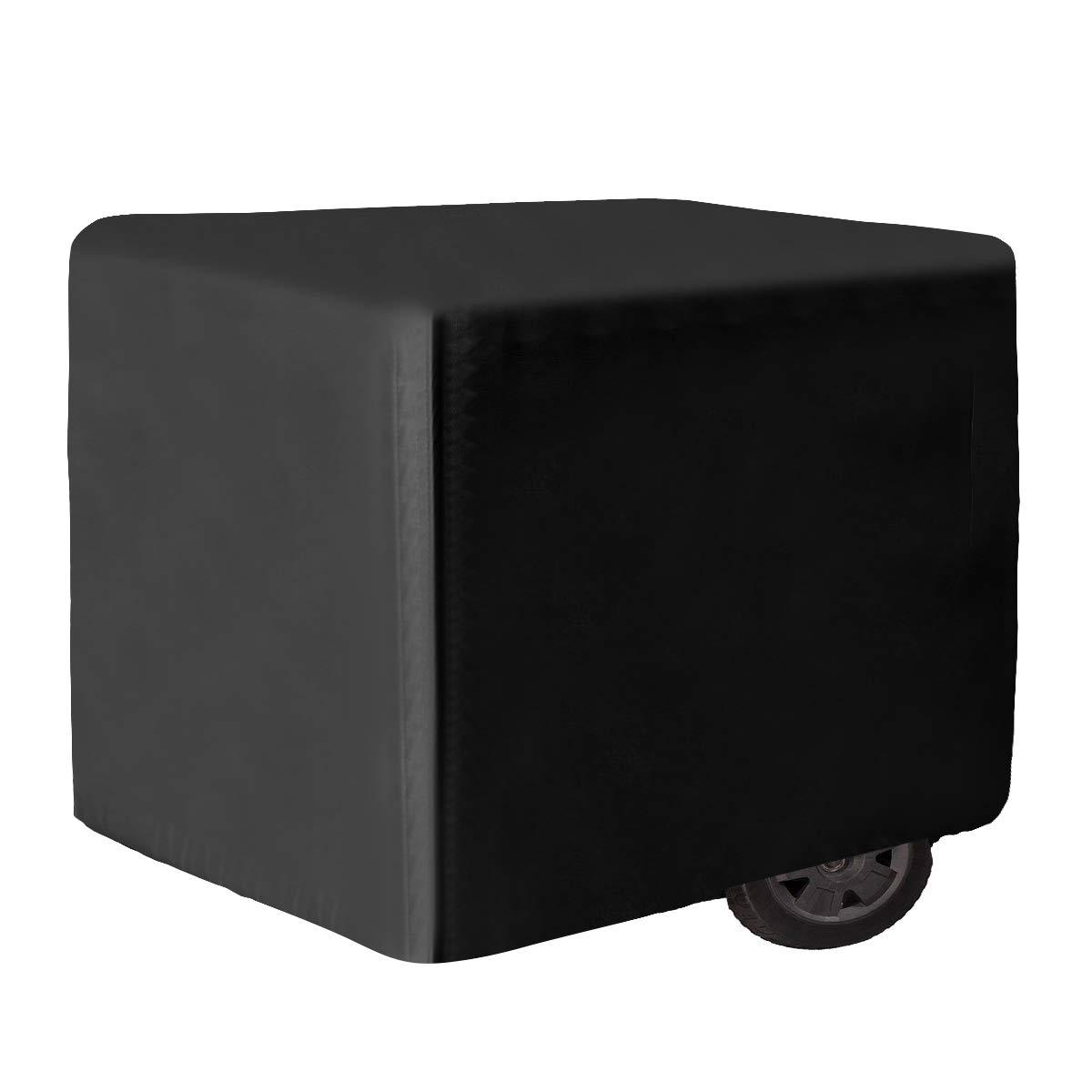 iiSPORT Waterproof Generator Cover - 600D Heavy Duty Polyester Generator Cover Large, Fits Generators Up to 38'' L x 28'' W x 30'' H, Black by iiSPORT