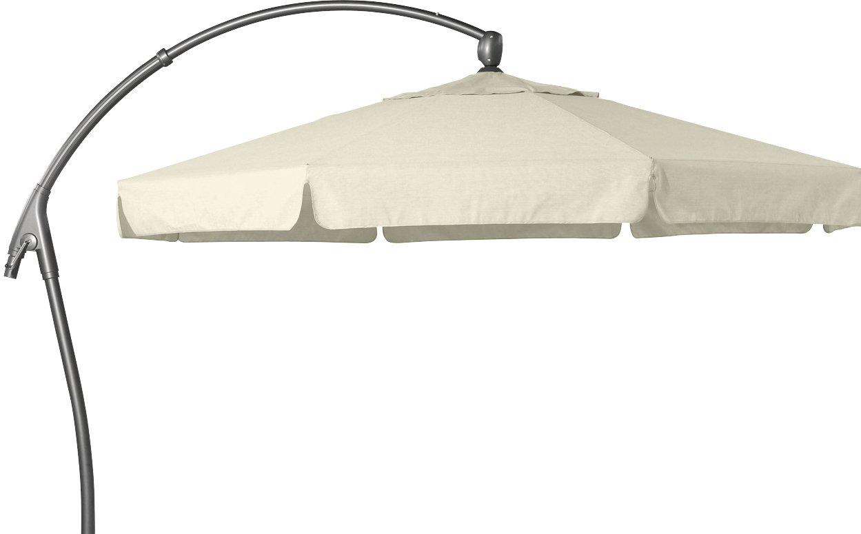 Hartman Ampelschirm 350 cm Scope natur Sonnenschirm Sonnenschutz Alu Textil Parasol