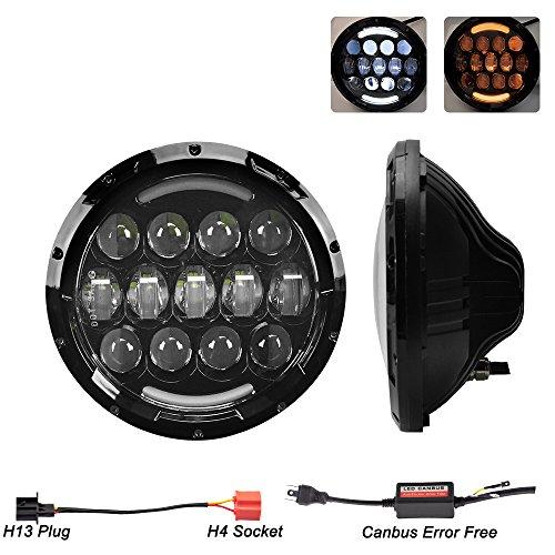 liteway-pair-7-led-headlight-round-black-cree-led-headlight-hi-lo-beam-with-drl-lamp-and-trun-light-