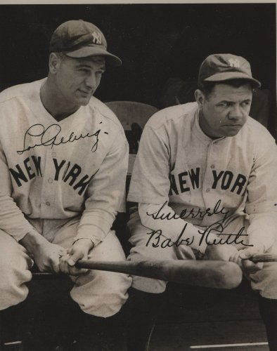 Babe Ruth & Lou Gherig 8x10 Reprint Photo New York Yankees Babe Ruth Autographs