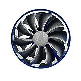 Qiilu Aluminum Car Air Intake Turbonator Dual Fan