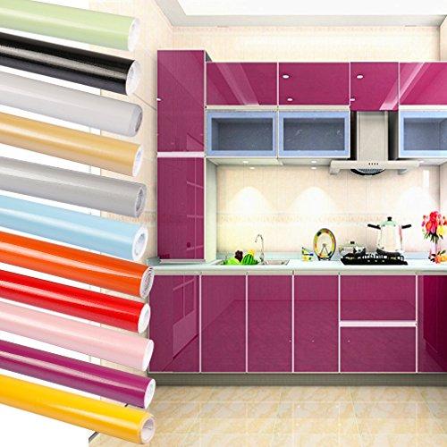 aruhe 0615m auto adhsif stickers de cabinet en top qualit pvc rouleau de papier pour meubles cuisine salle de bains violet amazonfr cuisine - Revetement Adhesif Pour Meuble De Cuisine