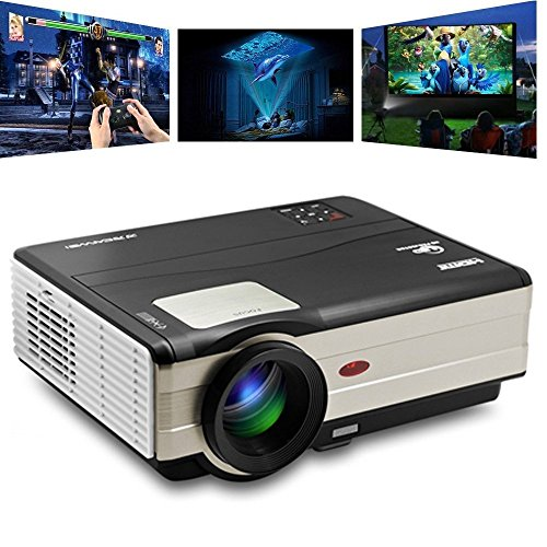 HD Projectors Portable Movie Projector 1080p Support, 3500 Luminous Efficiency 200' Video Projector Full HD 1280x800, Dual HDMI USB Home Theater Projector for Laptop iPhone Smartphone Mac with speaker