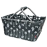 Gray Arrow Print NGIL Canvas Shopping, Market, Picnic Basket