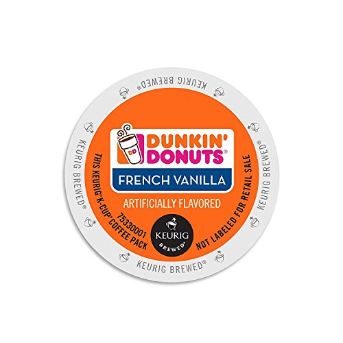 Dunkin' Donuts French Vanilla Coffee K-Cups 96 Ct (K Count Cups 96 Vanilla)
