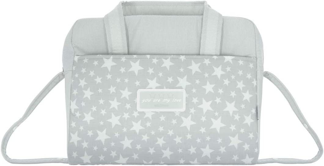 Cambrass Star - Bolso maternal tipo maleta, 32 x 39 x 17 cm color gris