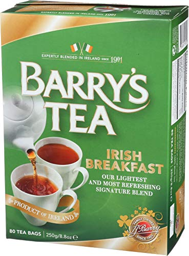 Irish Tea Tea Green - Barry's Tea, Irish Breakfast, 80-Count (Pack of 6)