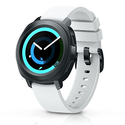 ANCOOL Compatible Gear Sport Band Replacement 20mm Silicone Watch Band Compatible Samsung Gear Sport/Galaxy Watch (42mm)/Ticwatch E/Ticwatch 2/Vivoactive 3 Watch - Small White
