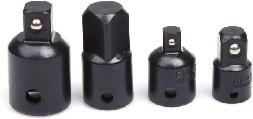 XKSIKjians Hardware Tool Black 4Pcs 1//4 3//8 1//2 Drive Socket Adapter Converter Reducer Air Impact Socket Wrench Home Improvement Tools Kit