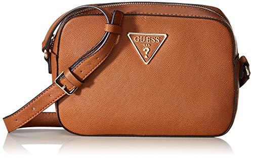 Guess Carys - Bolso bandolera para Mujer, Marrón (Cognac) 12 x 16.5 x 22 cm