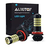 H11 Fog Light Bulbs,AUXITO Super Bright 4014 102-SMD H8 H16JP LED Bulbs with Projector for DRL/Fog Lights,6000K Xenon White
