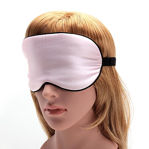 USCAMEL Tranquility 100% Silk Sleep Mask - Very Lightweight and Comfortable - Perfect for Travel and Sleeping - Pink by USCAMEL (Image #4)
