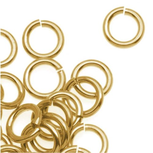 - Beadaholique 14K Gold Plated JUMPLOCK Jump Rings 6mm Diameter 18 Gauge Thick (50)