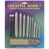 stomp blender - Creative Mark Complete Charcoal and Pastel Blending Set For Drawing Media Charcoal, Pencil, Pastels, Sponge Blenders, Stomps, Tortillions, Sandpaper Pad