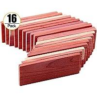 Cedar Hang Ups - Cedar Blocks for Closet Storage, 100% Nature Aromatic Red Cederwood Home Decor