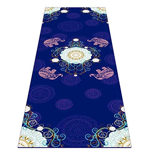 Heathyoga Yoga Towel, Exclusive Corner Pockets Design + Free Spray Bottle, 100% Microfiber Yoga Mat Towel for Hot Yoga, Pilates and Fitness (Best Hot Yoga Mat Review)