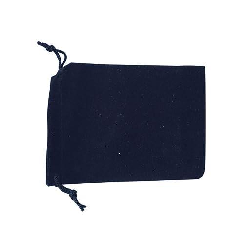 Hilai 50 bolsas de terciopelo negro para joyería con cordón ...