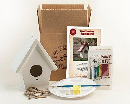 Ceramic Birdhouses - Art In History Paint Your Own Ceramic Birdhouse, White