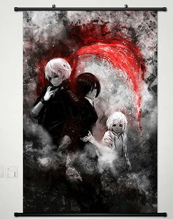 Home-Decor-Anime-Tokyo-Ghoul-Wall-Scroll-Poster-Fabric-Painting-Kaneki-Ken-167-L