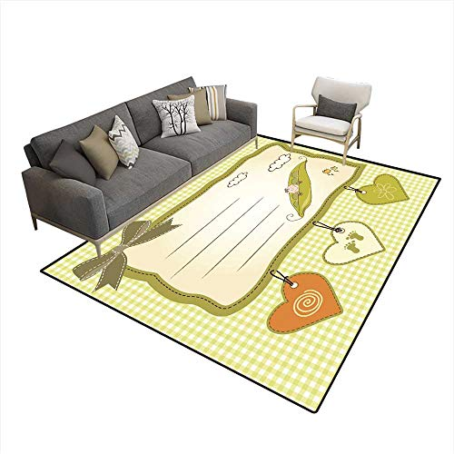 Kids Carpet Playmat Rug Little boy Sleeping in a Pea Been Baby Announcement Card (Topiary Card)