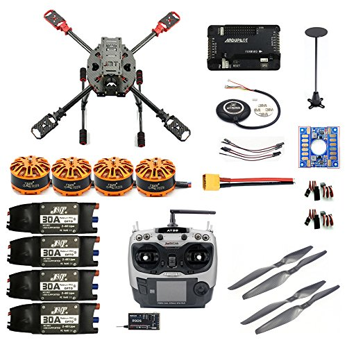 DIY 2.4GHz 4-Axis RC Drone Quadcopter APM2.8 Flight Controller M7N GPS 3508 700kv J630 Carbon Fiber Frame Props with AT9S TX Quadcopter