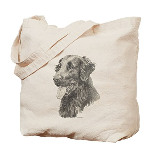 New Flat Coated Retriever - CafePress - Flat Coated Retriever - Natural Canvas Tote Bag, Cloth Shopping Bag