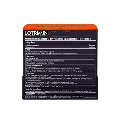 Lotrimin AF Antifungal Cream for Athlete's Foot, .42-Ounce T