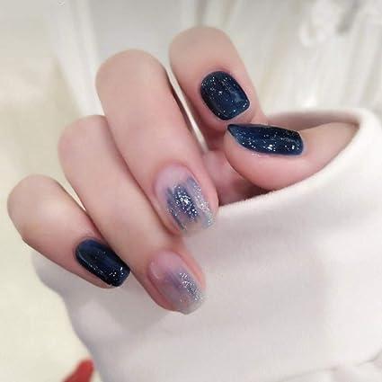 PoliphiliPoliphili 24 uñas postizas de colores con diseño de ...