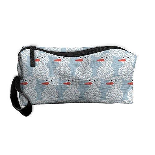 Kla Ju Portable Pencil Bag Purse Pouch Snowman Stationery Storage Organizer Cosmetic Holder ()