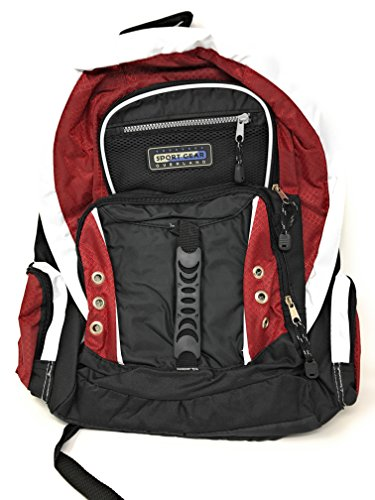 Overland Red Deluxe Multi-Pocket Gadget Ready School and Travel Backpack