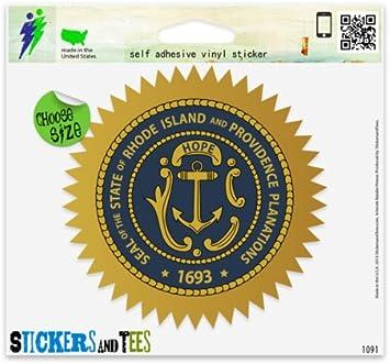 Rhode Island State Flag RI Bumper Sticker Auto Decal Car Truck Window Wall Phone