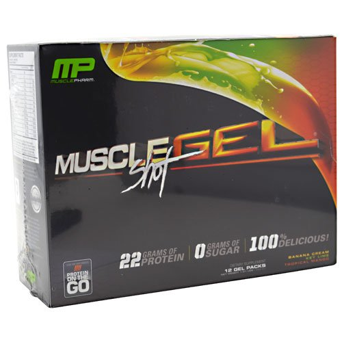 Muscle Pharm MuscleGel Shot Variety 12 Gel Packs Fat Loss System