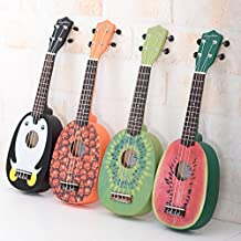 HOT SEAL® Cute Pineapple Shape Handmade Carving Dapper Beginners Concerts Ukuleles Uke (Kiwi)