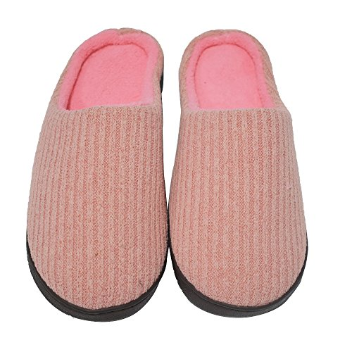 Pink Indoor Women 3940 Breathable coface Outdoor Anti Cotton Knitted Shoes Slip Cashmere House Winter Slippers OqpvqwSx