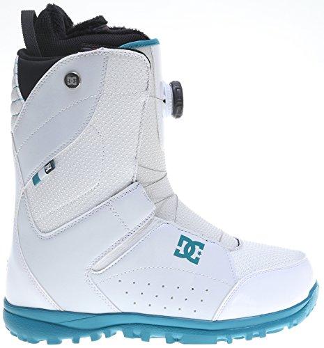 DC Women's Search Snowboard Boot, White/Blue Bird, 8.5B