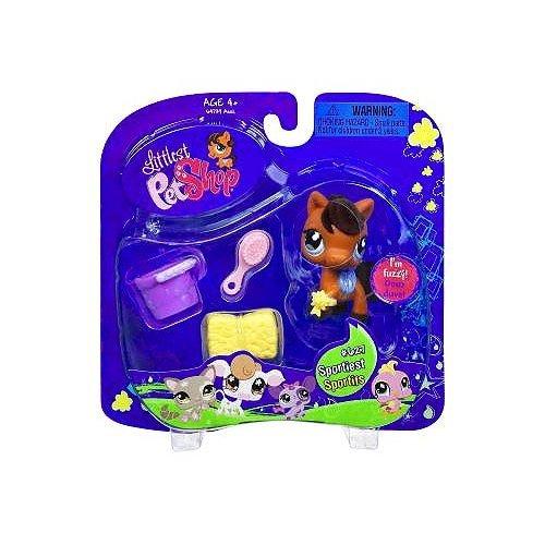 Littlest Pet Shop Arabian Pony Horse Sportiest # 627 with Accessories (Littlest Pet Shop Sportiest)