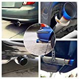 "EVIL ENERGY 2"" Inlet 3"" Outlet Exhaust Tip N1 Burnt Muffler Universal 14.8"" Length"