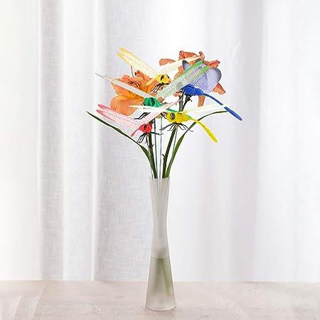FiedFikt 50 Piezas de libélula para jardín, Adorno de Mariposas, estacas para Exteriores, Maceta para jardín, decoración de Mariposas, estacas de libélula: Amazon.es: Hogar