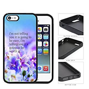 It's Worth It Purple Garden Rubber Silicone TPU Cell Phone Case Apple iPhone 5 5s