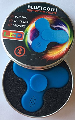 Price comparison product image Gadget N Things New LED Light MINI Bluetooth Audio Hand Fidget Spinner Music Speaker,Perfect For ADD,ADHD,Autism and Pressure Relief Killing Time Finger Toy- Blue