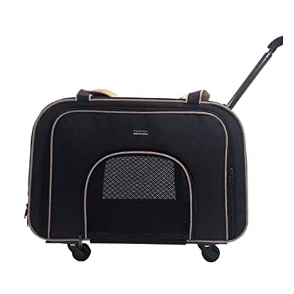 Amazon.com: XMSG Detachable Pet Trolley Case Dog Out Trolley ...