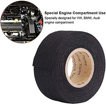 coche auto-adhesivo anti chirrido del fieltro del arn/és de cableado automotriz cinta accesorios del coche 9mm*15m Cinta multiusos del coche