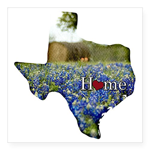 (CafePress Texas Home Bluebonnets Square Sticker 3